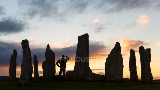 Callanish Standing Stones, Île de Lewis, Hébrides extérieures, Écosse, Royaume-Uni — Photo de stock