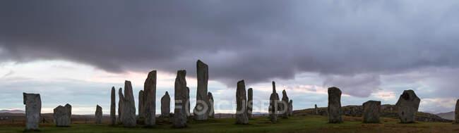 Callanish Standing Stones, Isle of Lewis, Outer Hebrides, Escócia, Reino Unido — Fotografia de Stock