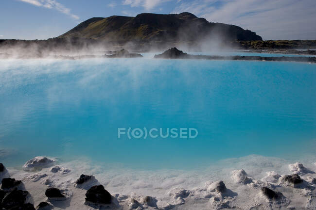 The Blue Lagoon a geothermal spa in southwestern Iceland — Stock Photo