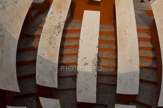 Details on the structure at the Astronomical observatory Jantar Mantar in New Delhi — Stock Photo