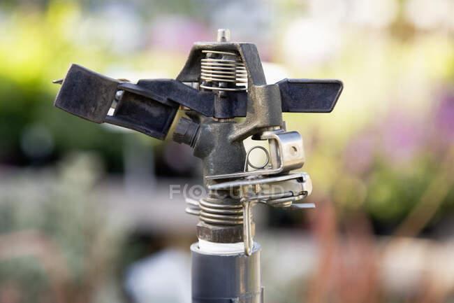 Закриття автоматичного водяного спрею.. — стокове фото