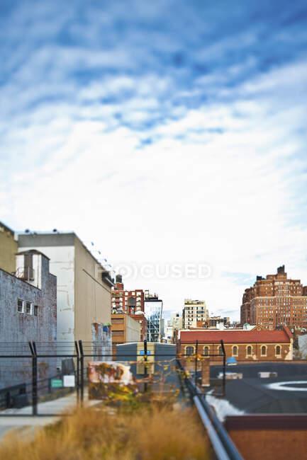 Edifici urbani e residenze, New York — Foto stock