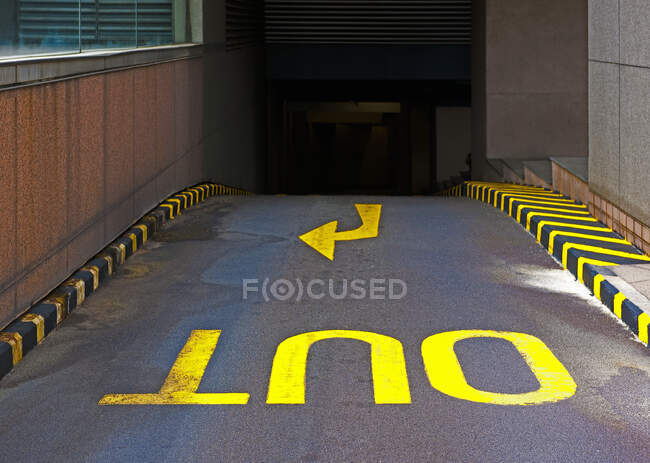 Out ramp in parking garage. — Stock Photo