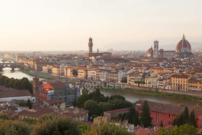 View of city from Piazza Michelangelo, Florence, Tuscany, Italy. — Stock Photo