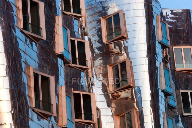 L'edificio Neuer Zollhof di Frank Gehry al Medienhafen o Media Harbour, Dusseldorf, Germania. — Foto stock