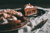 Восхитительный шоколадный пирог — стоковое фото
