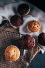 Queques de chocolate caseiros — Fotografia de Stock