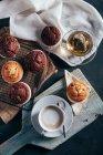 Muffins au chocolat faits maison — Photo de stock