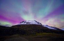 Paisagem com Aurora Boreal — Fotografia de Stock