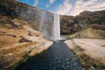 Cascata Seljalandsfoss in Islanda — Foto stock