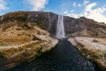 Seljalandsfoss водоспад в Ісландії — стокове фото