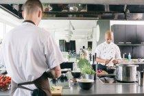 Köche kochen in der Küche — Stockfoto