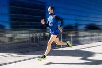 Man running in park. — Stock Photo