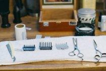 Парикмахерские в парикмахерской — стоковое фото