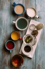 Different types of tea — Stock Photo