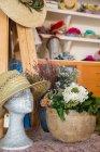 Манекен головы с довольно шляпа — стоковое фото