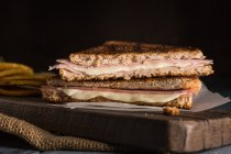 Grilled ham and cheese sandwich — Stock Photo