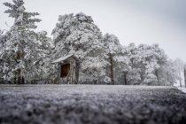 Verschneite Landschaft von Madrid — Stockfoto