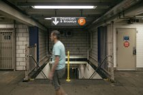 Subway Corridors in New York Subway — Stock Photo