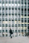 Businessman in a Financial District — Stock Photo