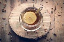 Xícara de chá com limão — Fotografia de Stock