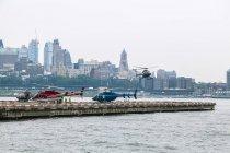 Hubschrauberlandeplatz in New York City — Stockfoto