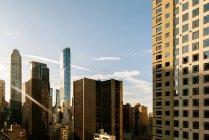 Sunset in Manhattan Streets — Stock Photo