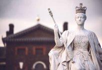 Nahaufnahme von Königin Victoria statue — Stockfoto