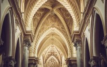 Interior of the Erice Cathedral, Sicily, Italy. — Stock Photo
