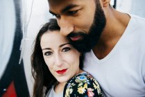 Happy couple embracing — Stock Photo