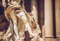 Обрізати зображення Fontana di Trevi в Римі — стокове фото