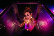 Woman wearing lace bra posing — Stock Photo