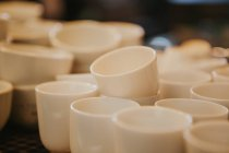 Close up view of stack of espresso cups — Stock Photo