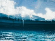 Icicles on bottom of glacier — Stock Photo