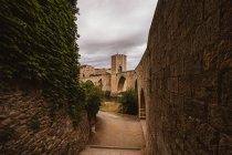View of  medieval bridge of Besalu. Girona, Spain. — Stock Photo