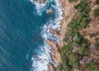 Aerial views of coast cliffs with waves in Mediterranean — Stock Photo