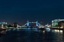 Erstaunliche Stadtbild von London im Nachtlichter — Stockfoto