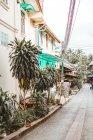 Переглянути вузькі вулиці з будиночки — стокове фото