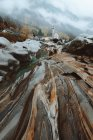 Small river and wet stones — Stock Photo