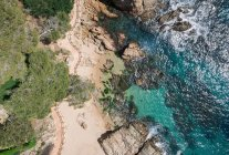 Aerial views of the Costa Brava in Spain. Photographs taken by a — Stock Photo