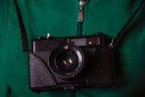 Старинный фотоаппарат — стоковое фото