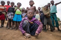ANGOLA - AFRICA - APRIL 5, 2018 - Group of poor confident African children — Stock Photo