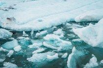 Pezzi di ghiaccio galleggianti in acqua di mare — Foto stock