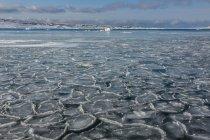 Huge ice blocks on water — Stock Photo