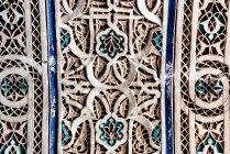 Geschnitzte Skulpturen handgemachte geometrisch Wand — Stockfoto