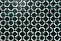 Vintage artesanal quadriculada telha cerâmica — Fotografia de Stock