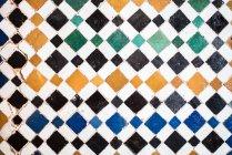 Vintage artesanal colorida telha cerâmica — Fotografia de Stock
