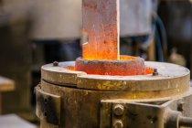 Metal ware heating in crucible — Stock Photo