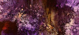 Abstracción de pinturas líquidas en mezcla de flujo de mezcla lenta — Stock Photo