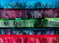 Closeup of abstract bright multicolored epoxy resin panels — Stock Photo